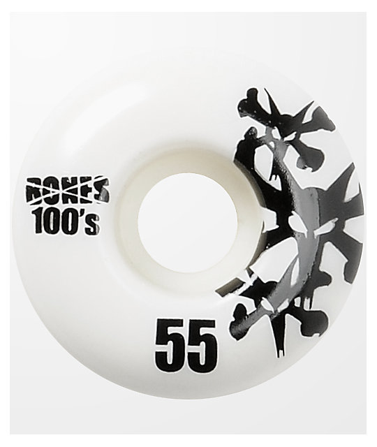 Bones 100s Natural 55mm Skateboard Wheels