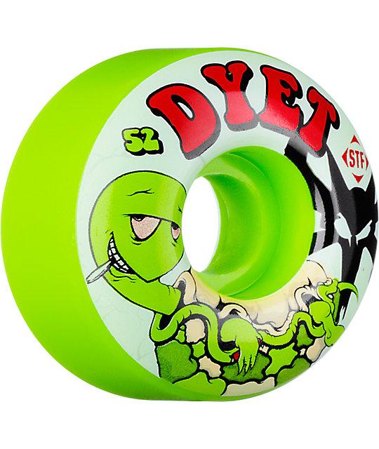 Bones Dyet Turtles Green 52mm STF Skateboard Wheels