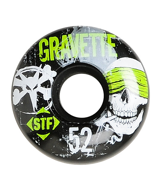 Bones Gravette Hostage 52mm STF Skateboard Wheels