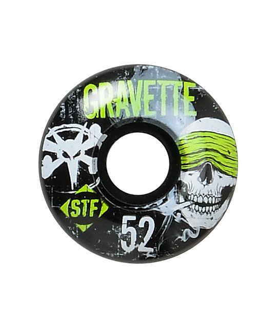 Bones Gravette Hostage 52mm Street Formula Skateboard Wheels