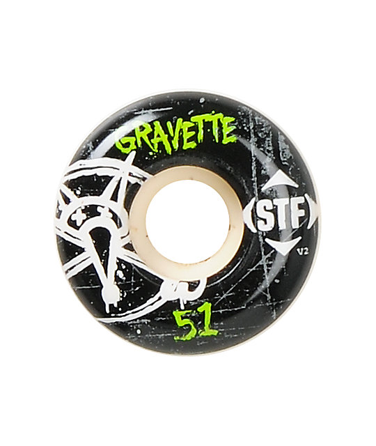 Bones Gravette Oh Gee STF 51mm Skateboard Wheels