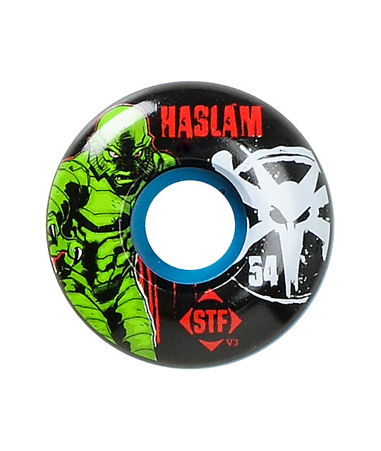 Bones Haslam Blue Lagoon STF 54mm Skateboard Wheels