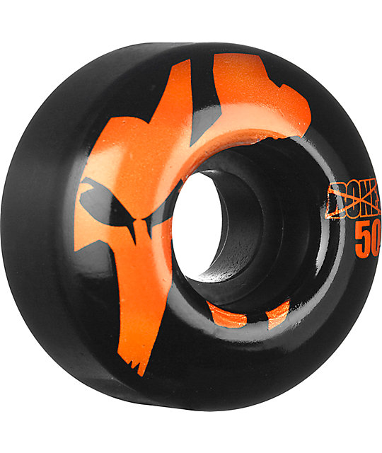 Bones Icons Black & Orange 50mm Skateboard Wheels