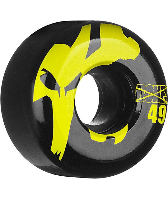 Bones Icons Black & Yellow 49mm Skateboard Wheels