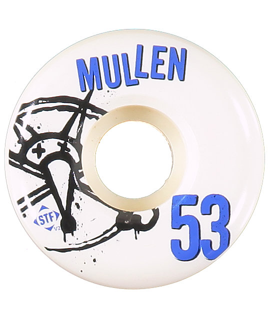 Bones Mullen Numbers STF 53mm Skateboard Wheels