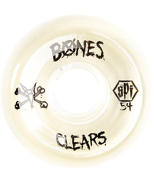 Bones SPF Clear Natural 54mm Skateboard Wheels