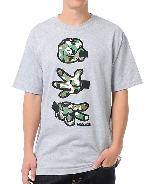 Booger Kids Rock, Paper, Cut Grey & Camo T-Shirt