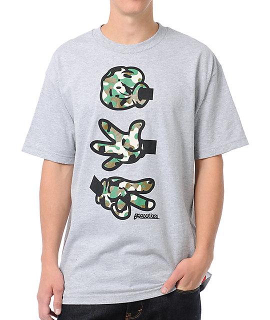 Booger Kids Rock, Paper, Cut Grey & Camo T-Shirt