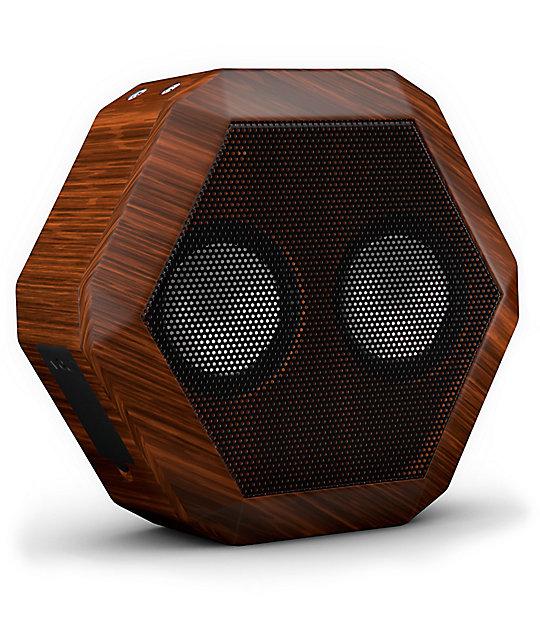 Boombotix Rex Wood Grain Portable Speaker