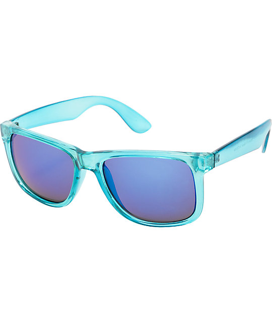 Bravo Clear Blue & Purple Mirror Sunglasses