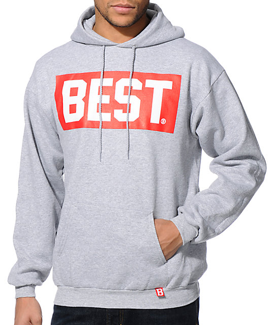 Breezy Excursion Best Block Grey Pullover Hoodie