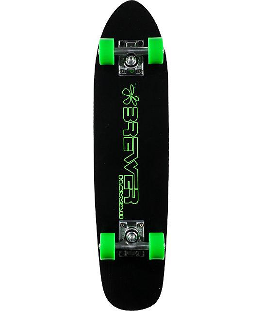 "Brewer Outline 27""  Green Cruiser Complete Skateboard"