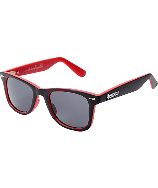 Brigada Andrew Reynolds Black & Red Sunglasses