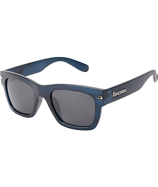 Brigada Big Shot Black Polarized Sunglasses