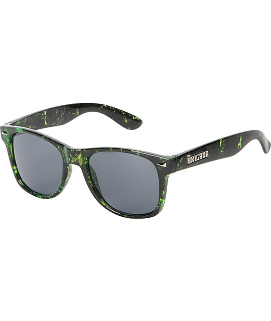 Brigada Lawless Distressed Green Sunglasses