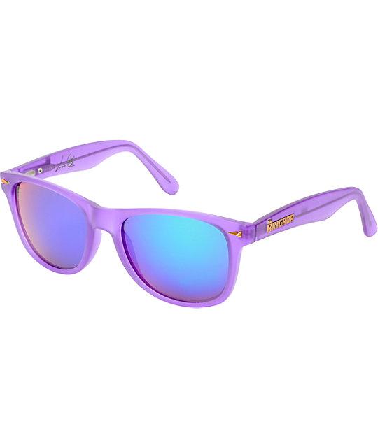 Brigada Lizard King Frost Purple Sunglasses