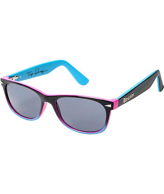Brigada Terry Kennedy Black, Cyan, & Magenta Sunglasses