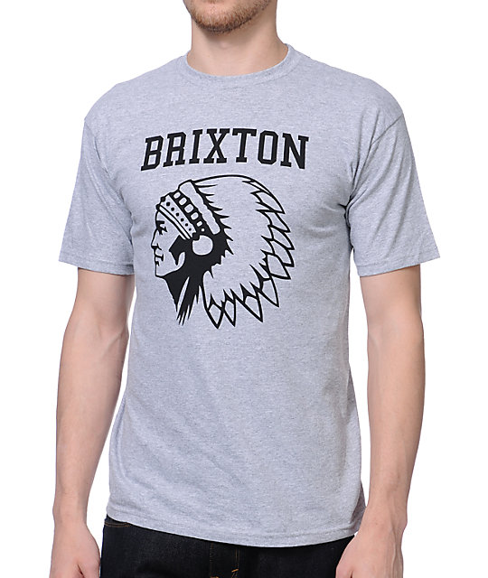 Brixton Anthem Heather Grey T-Shirt