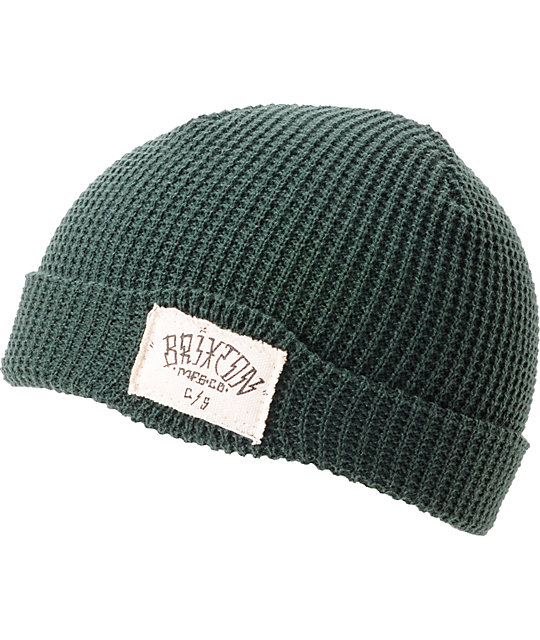 Brixton Borrego Hunter Green Cuff Beanie