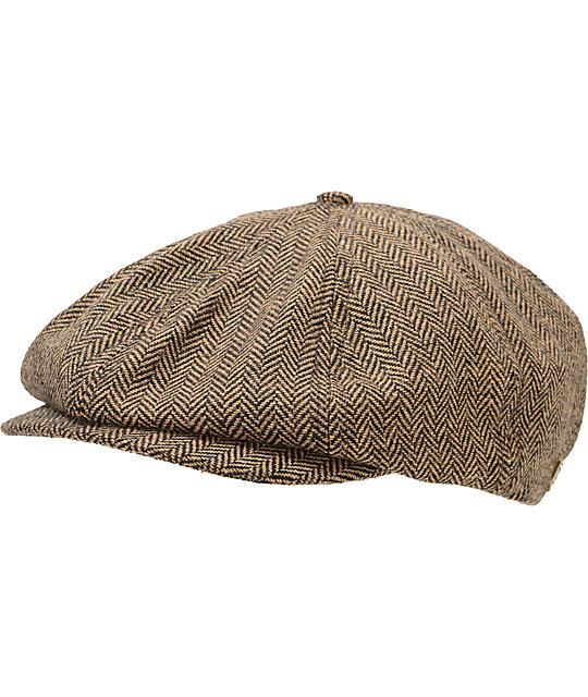 Brixton Brood Brown & Khaki Snap Cap
