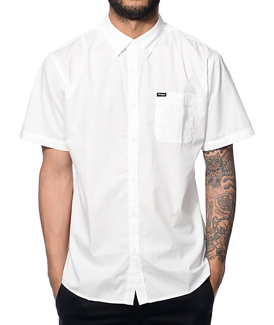 Brixton Central White Button Up Shirt at Zumiez : PDP