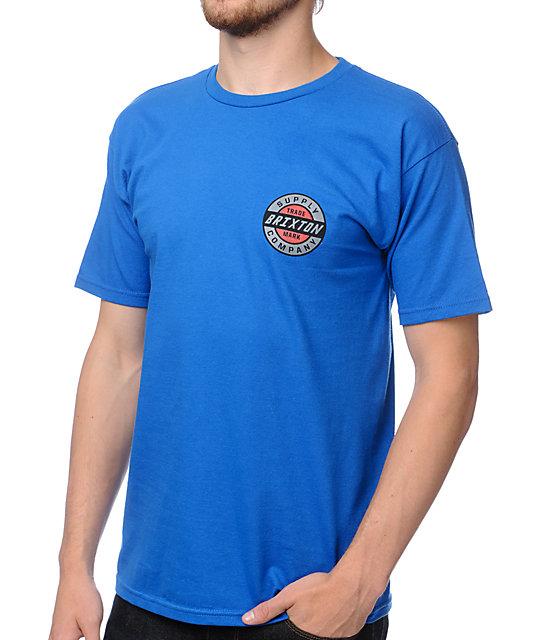 Brixton Chamber Blue T-Shirt