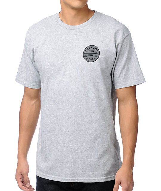 Brixton Craft Grey T-Shirt