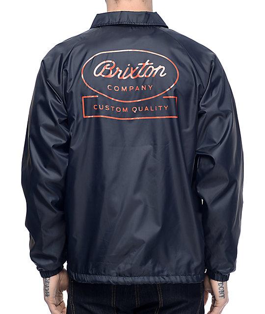 Brixton Dale Navy Coaches Jacket
