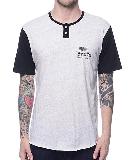 Flier Grey & Black Henley T-Shirt