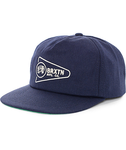 Brixton Fury LP Navy Snapback Hat