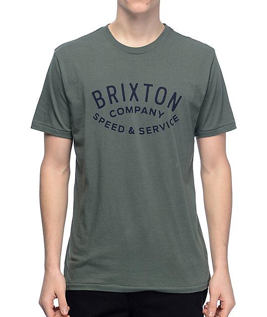 Brixton Gasket Olive T-Shirt