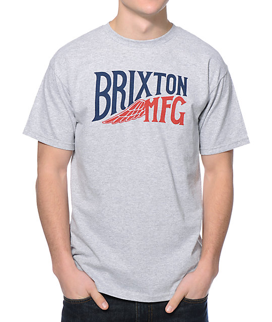 Brixton Girder Heather Grey T-Shirt