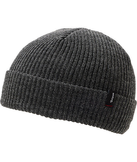 Brixton Heist Heather Grey Cuff Beanie