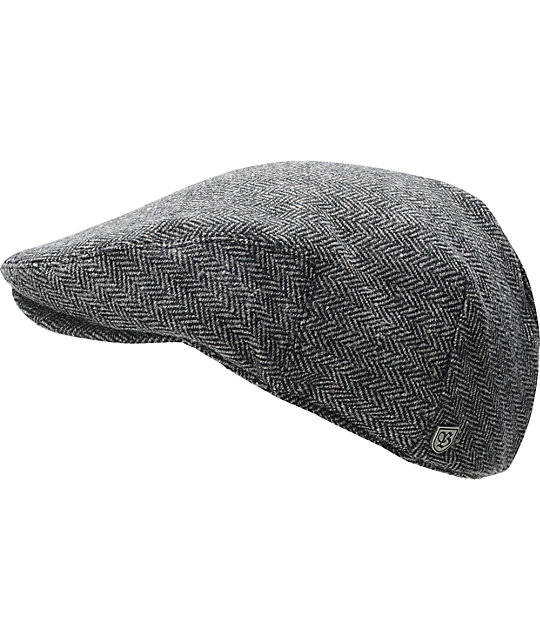 Brixton Hooligan Herringbone Grey Cap