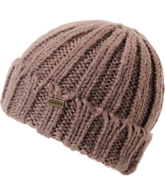 Brixton Jasmine Taupe Brown Knit Beanie