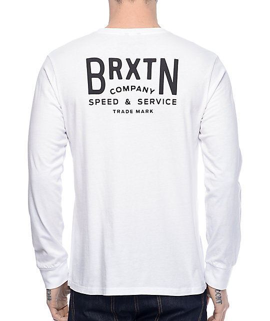 Brixton Langley White Long Sleeve T-Shirt