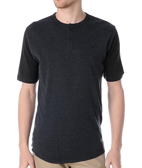 Brixton Lewis Charcoal Henley T-Shirt