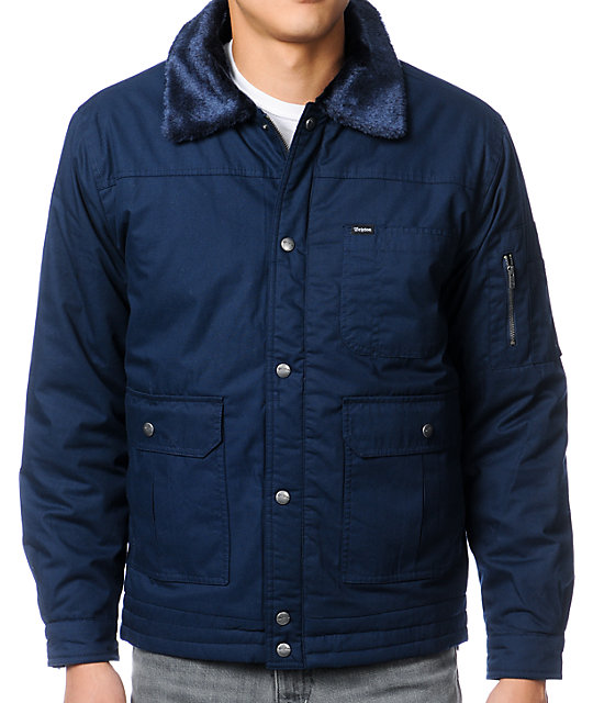 Brixton Menace Navy Bomber Jacket