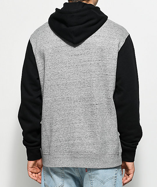 Brixton Native Grey & Black Fleece Hoodie