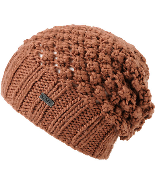 Brixton Patsy Light Brown Slouchy Beanie