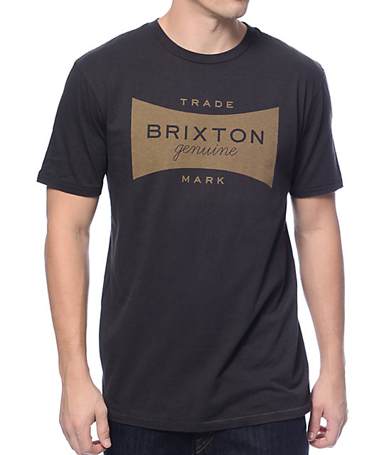 Brixton Ramsey Washed Black Premium T-Shirt at Zumiez : PDP
