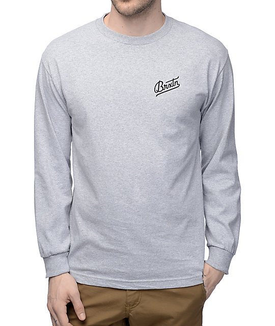 Brixton Reggie Athletic Grey Long Sleeve T-Shirt | Zumiez