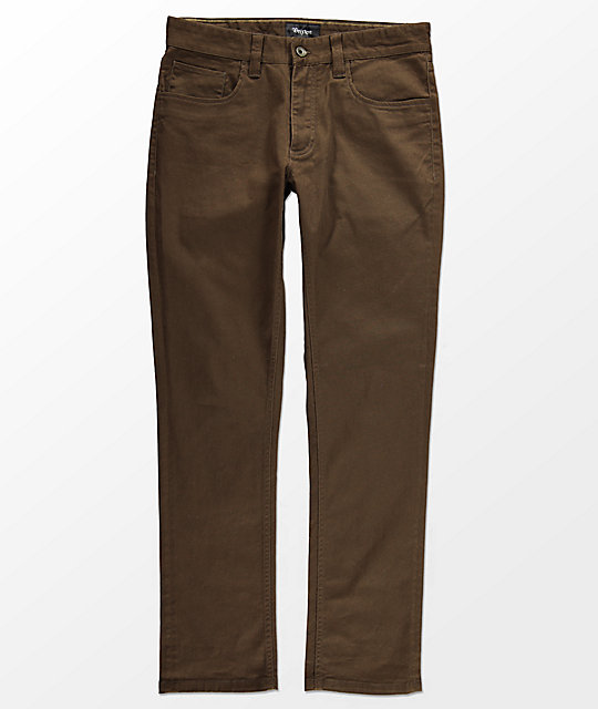 Brixton Reserve 5 Pocket Brown Jeans