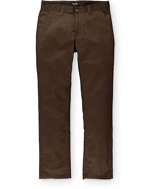 Brixton Reserve Brown Chino Pants
