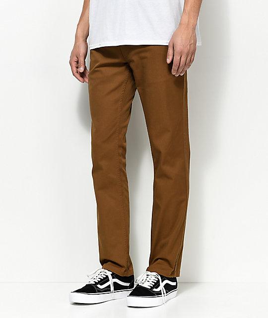 Brixton Reserve Dark Khaki Chino Pants