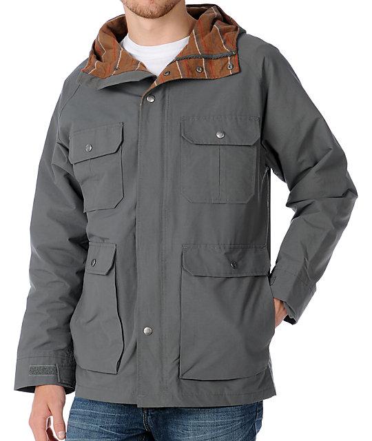 Brixton Ridge Grey Parka Jacket