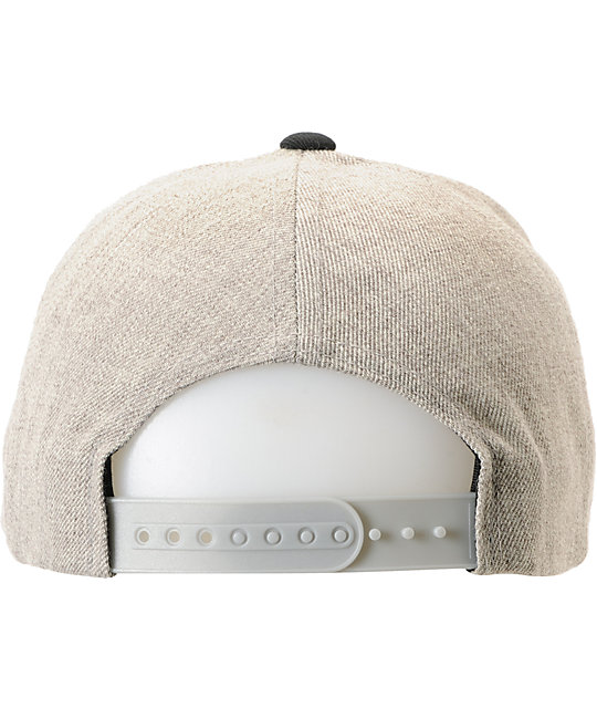 Brixton Rift Heather Grey & Black Snapback Hat