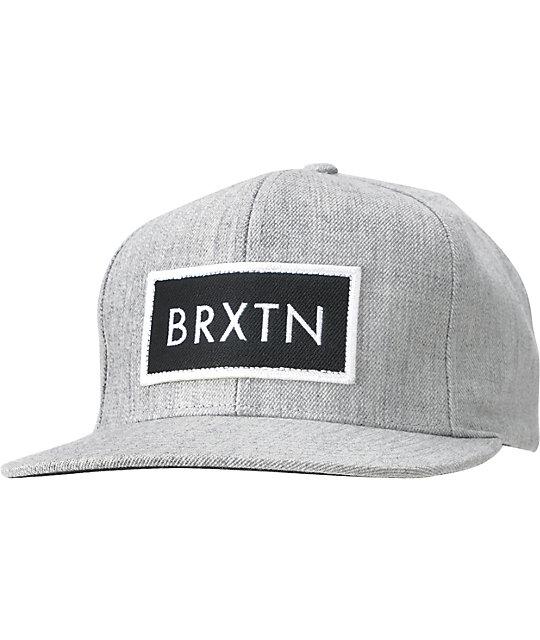 Brixton Rift Heather Grey Snapback Hat