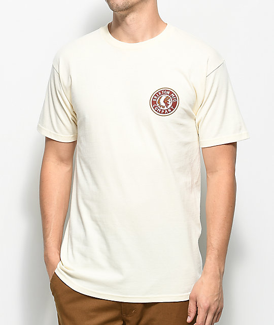 Brixton Rival Ii Off White T Shirt by Brixton