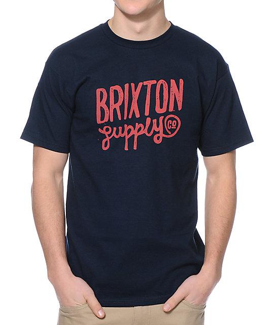 Brixton Romano Navy T-Shirt